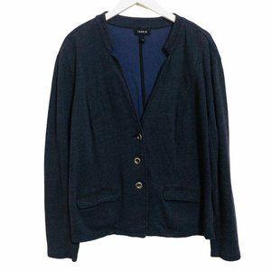 Torrid Navy Blue Button Down V-Neck Cardigan